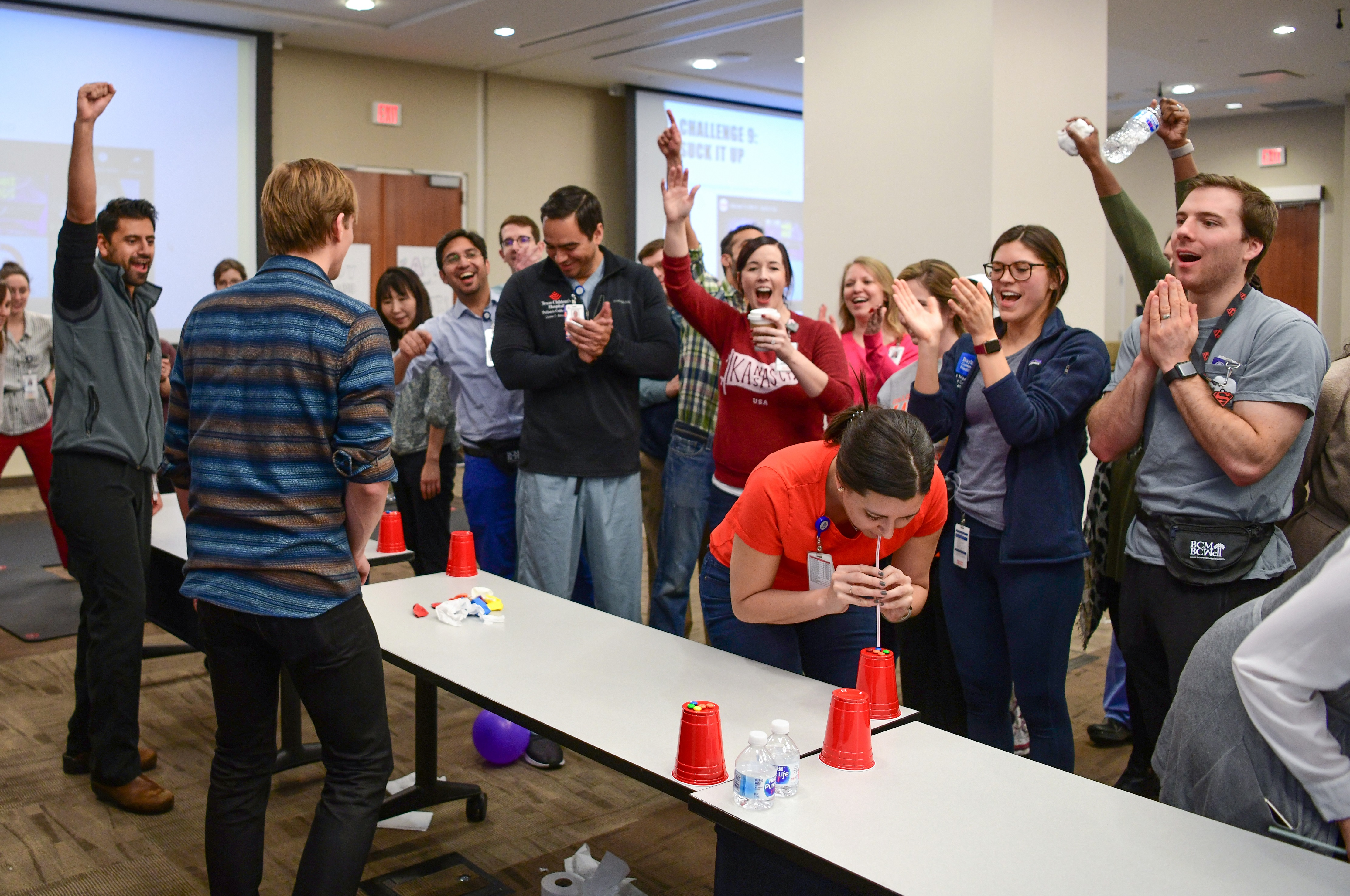 """Minute to Win it Challenges during Fellows Fun Day Retreat"""""""