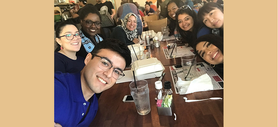The Badr lab celebrates members' birthday with a team lunch.