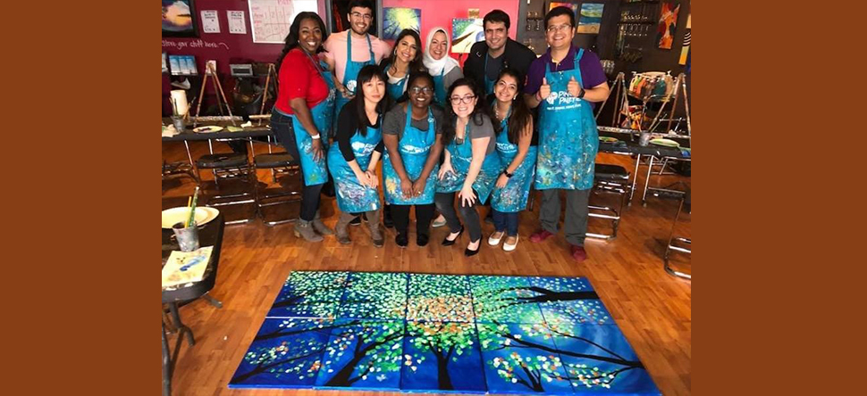 The Badr Lab took a break from work and headed out for a evening of painting fun.