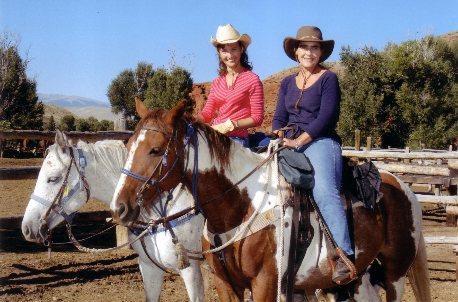 Drs. Heike Wulff and Christine Beeton in Wyoming, 2005