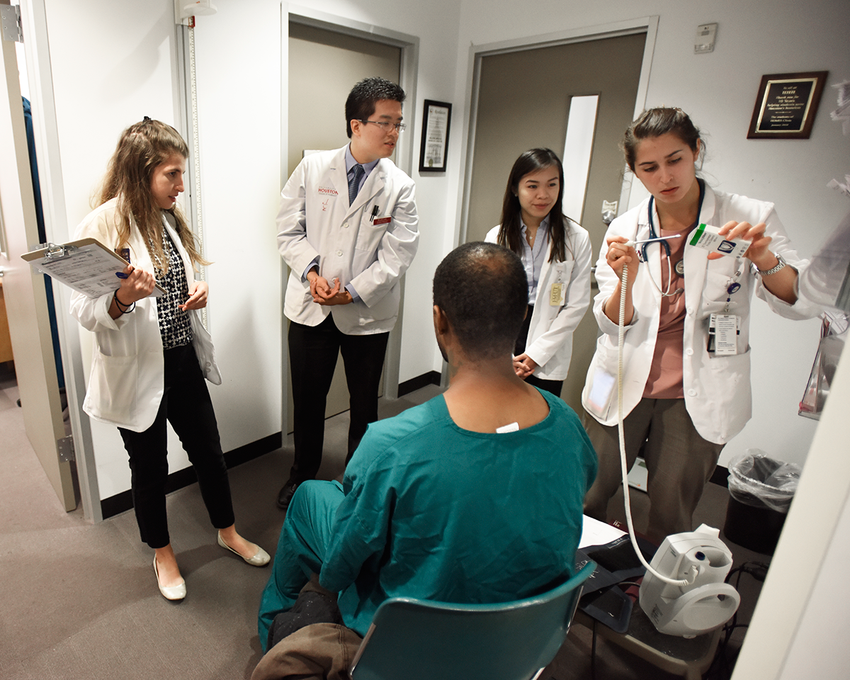 Our students are part of a collaborative effort to bring healthcare to Houston's homeless through the Houston Outreach Medicine, Education and Social Services (HOMES) clinic.