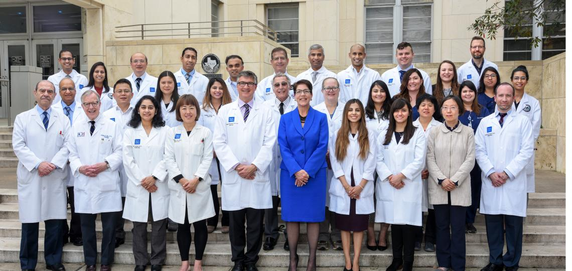 Members of the Section of Nephrology in the Department of Medicine at Baylor College of Medicine stand for a group picture.