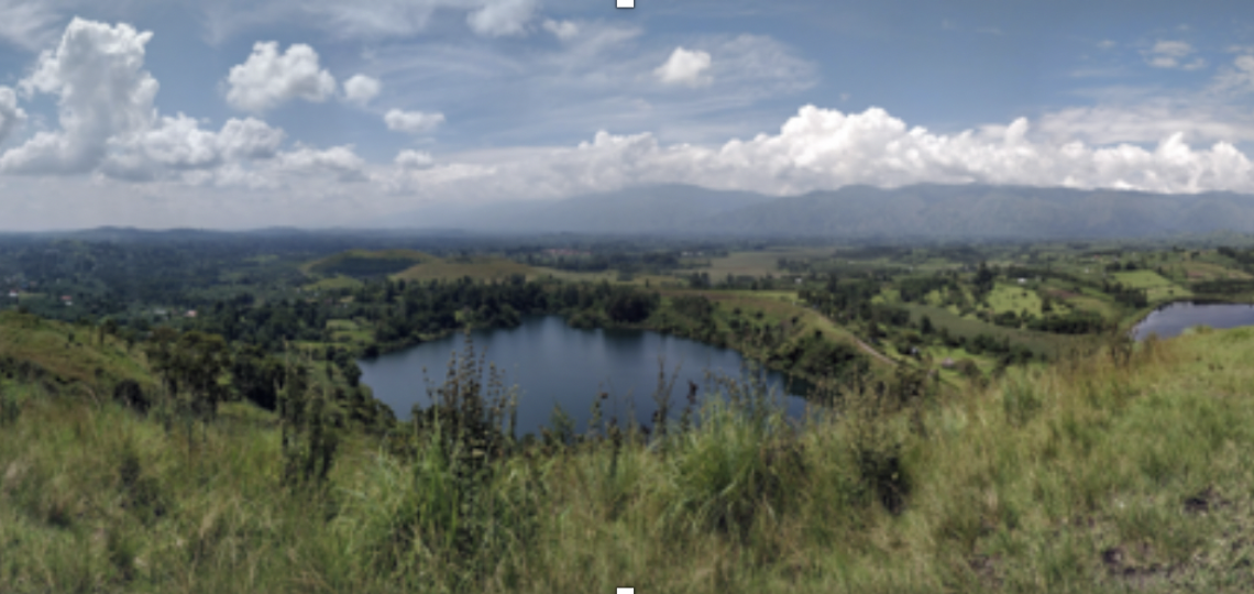Crater lakes in Uganda.