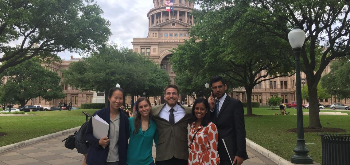 Pediatric residents at the Texas state capital