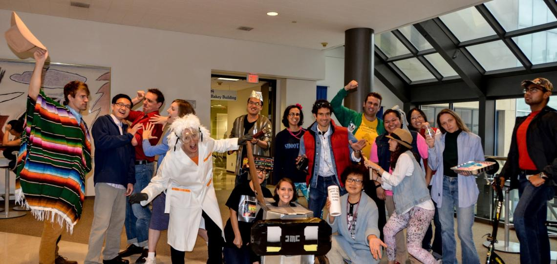 Halloween 2015 was celebrated with a cast of characters from Back to the Future