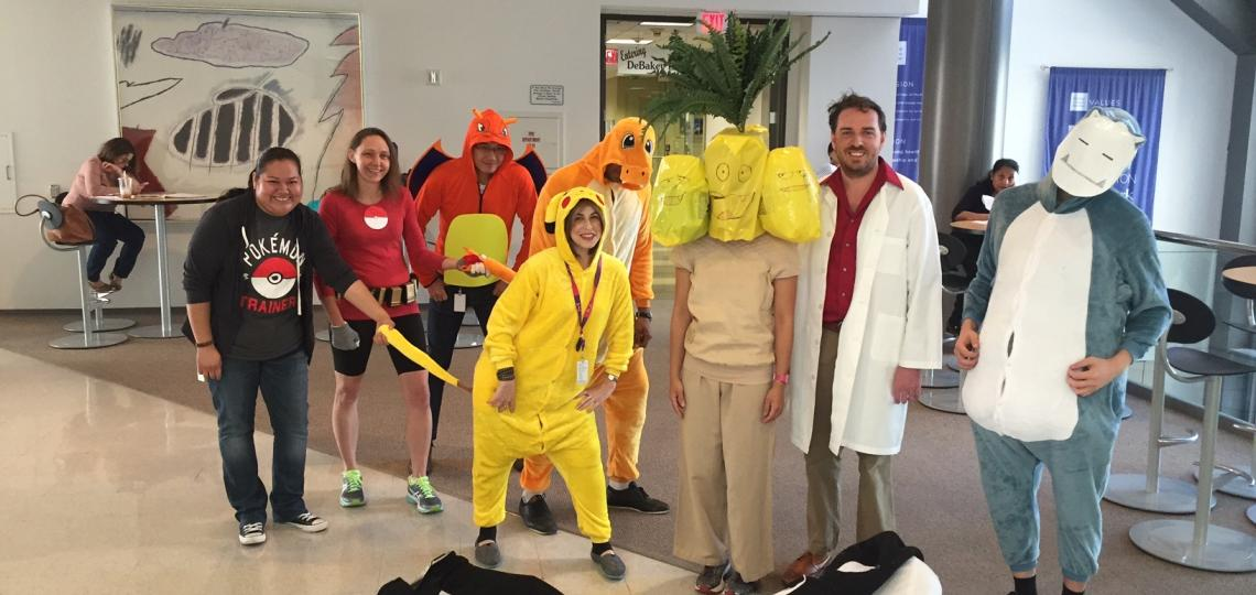 Halloween 2016 was celebrated in the Goodell Lab Pokémon style. Fun!