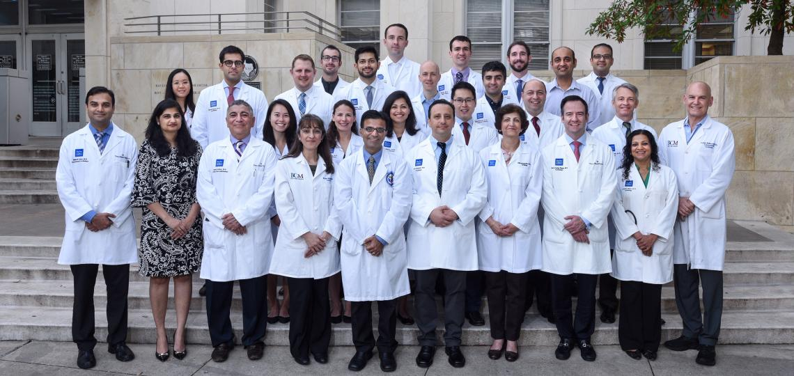 A group photo of the cardiology fellows.