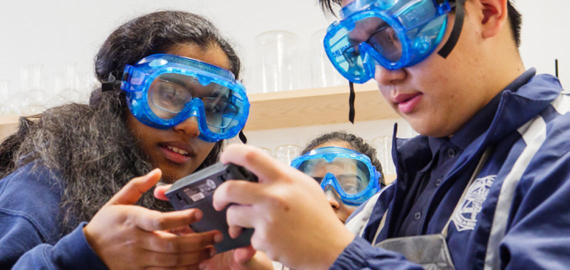 Debakey students engaged in STEM activities.