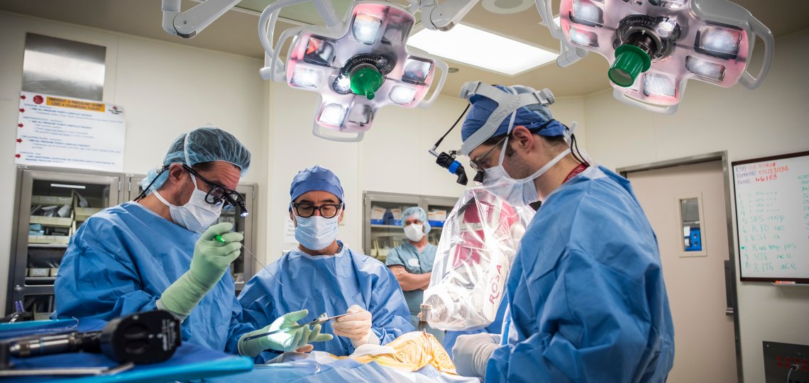 Dr. Howard Weiner in surgery