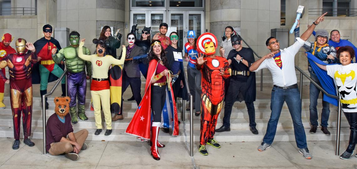 Superheroes took over the Goodell Lab for Halloween 2017.