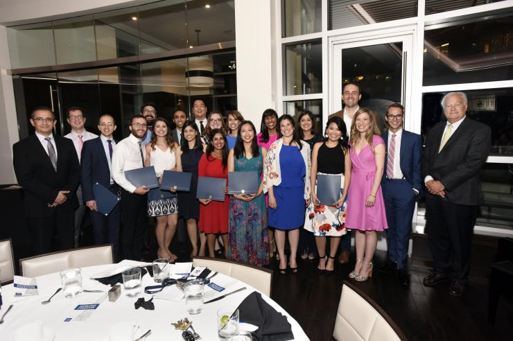 The members of the Distinguished Educators Pathway gathered at graduation from the Internal Medicine Residency program.