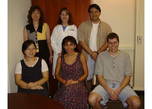 Front, Left to Right: Shirley Yang, Sonia Rahmati-Clayton, Rick Deibler | Back, Left to Right: Lynn Zechiedrich, Merry Maynard, Chris Lopez