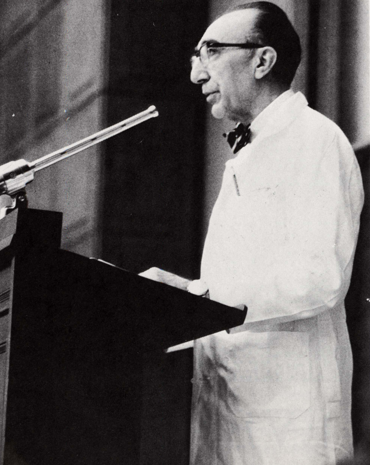 Dr. Michael E. DeBakey, first president of Baylor College of Medicine.