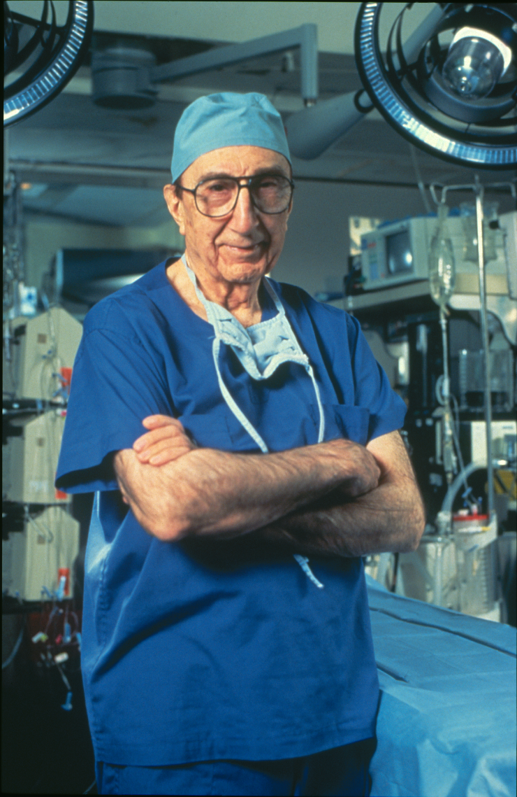 Through the 1980s Dr. Michael E. DeBakey continued medical research and transplant surgeries.