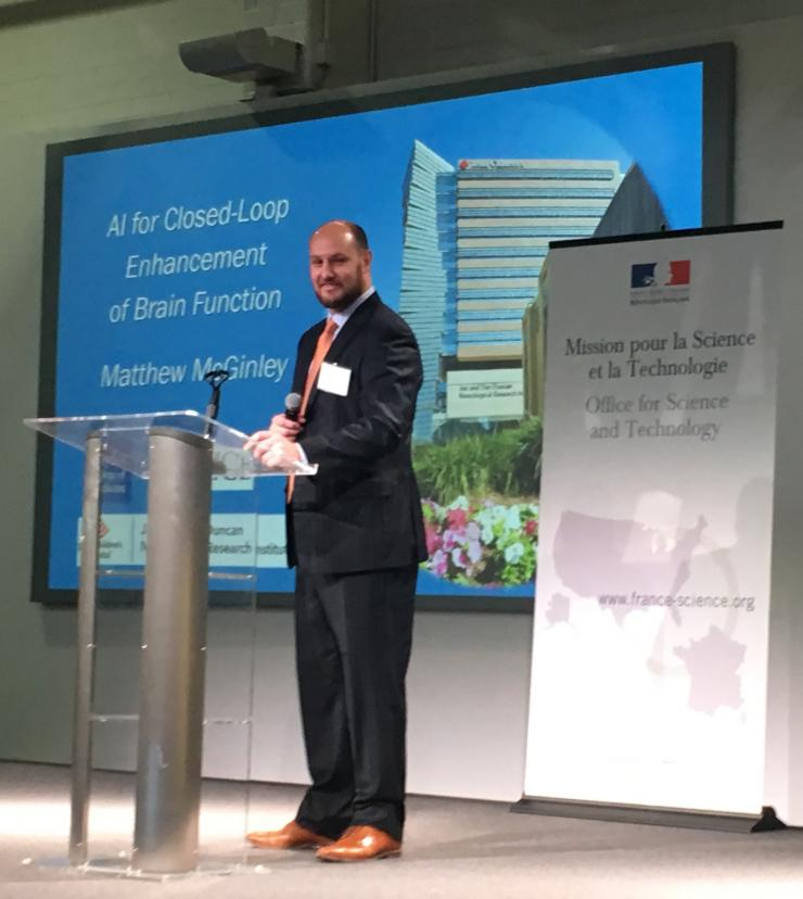 Matt McGinley delivered a talk at the French-American Innovation Days.