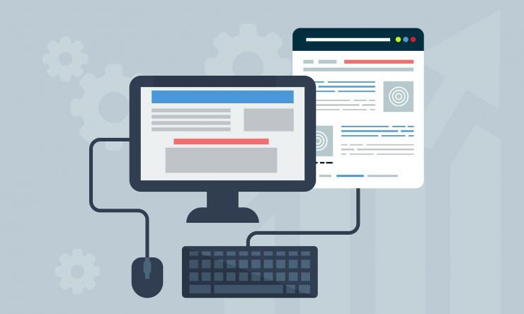 Illustration representing online resources